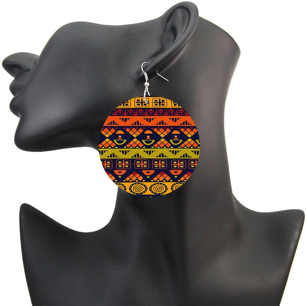 Orange Ethnic art | Boucles d'oreilles africaines