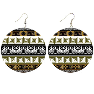 Olive ancient shapes | Boucles d'oreilles africaines
