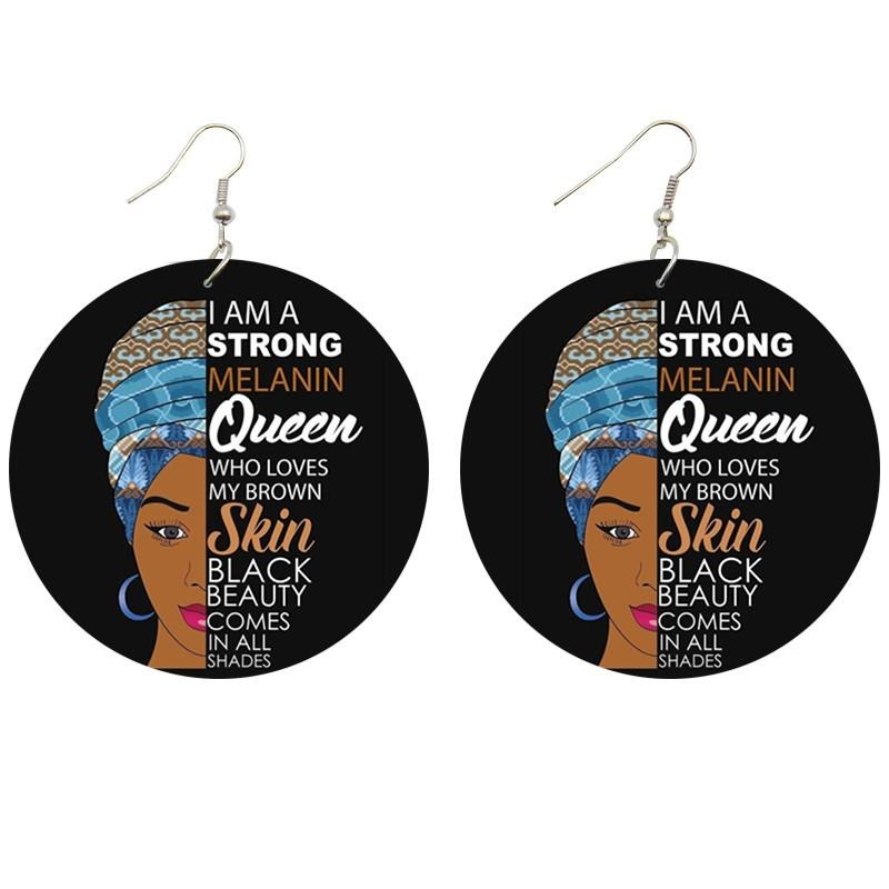 I am a strong melanin queen | Boucles d'oreilles africaines