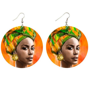 African Gele | Boucles d'oreilles africaines