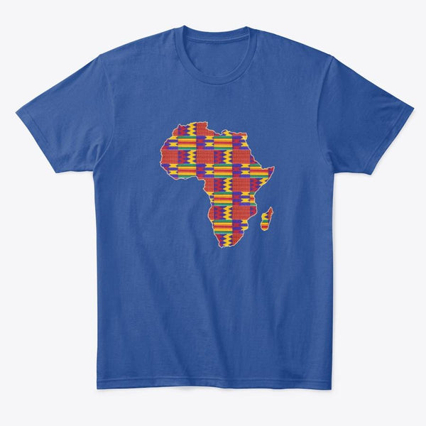 T-shirt (unisexe) - African continent in Rouge Kente print (Plusieurs couleurs disponibles)