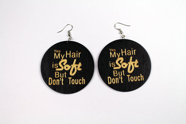 Boucles d'oreilles africaines | Yes My HAIR is Soft But Don't Touch