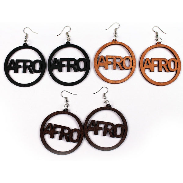 Boucles d'oreilles africaines wooden earring | AFRO