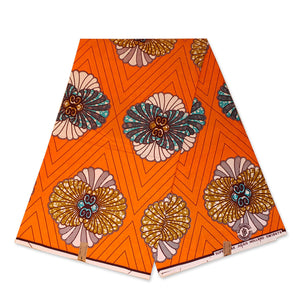 Tissu africain / tissu Super wax - Orange Decoration