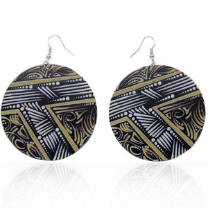 Tribal painting | Boucles d'oreilles africaines