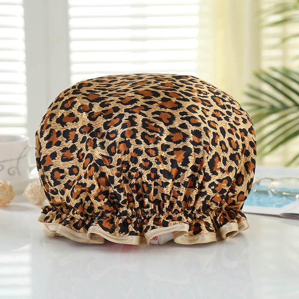 XL Bonnet de douche (réutilisable) - Leopard / Panther
