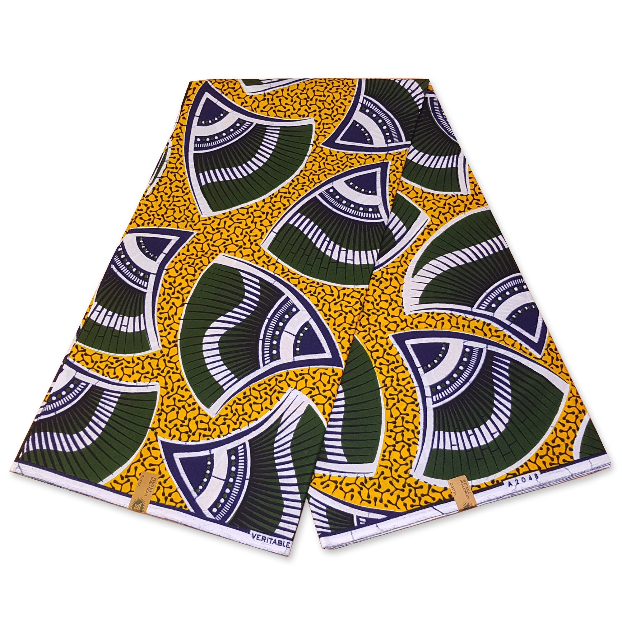Tissu VLISCO Wax Hollandais - Jaune SHELL