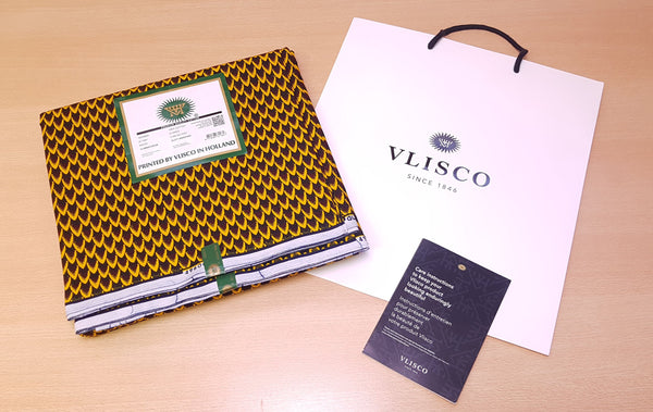 Tissu VLISCO Wax Hollandais - Bronze BANGA NUT