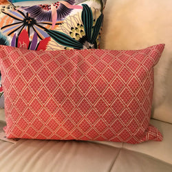 Diamond Pink Stripe Cushion