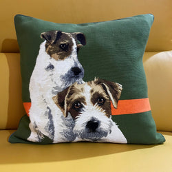 Two Dogs Cushion