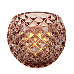 Glass Round Crystal Tealight Holder