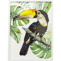 Toucan Paper Art in Frame