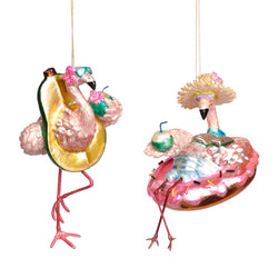 Glass Flamingo Decoration