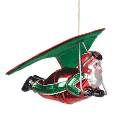 Glass Santa Paragliding Decoration