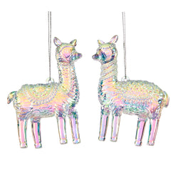 Glass Alpaca Llama Decoration