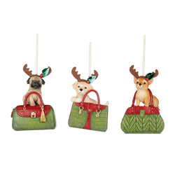 Christmas Dog in Purse Decoration