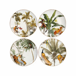 Jungle Porcelain Plates Set 4