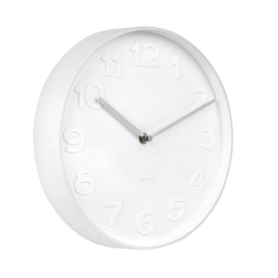 MR White Wall Clock