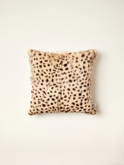 Leopard Print Fur Cushion