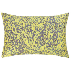 Yellow Purple Lurex Cushion