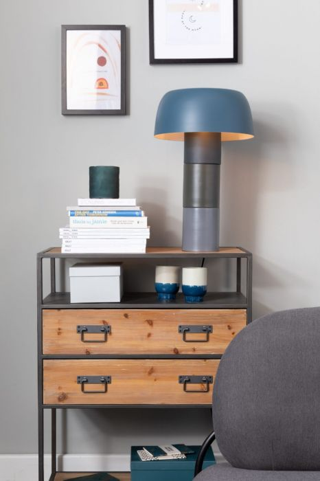 TRICOLORE BLUE TABLE LAMP