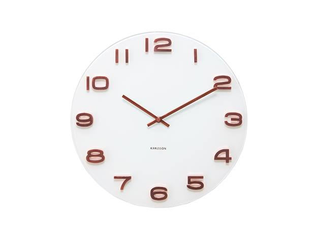 Vintage Glass Wall Clock