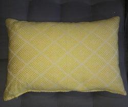 Yellow Diamond Cushion