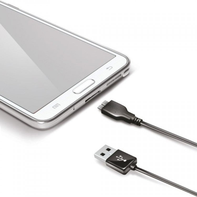 Celly Charge&Sync USB Kabel Micro USB 3.0 High Speed 1m - Zwart