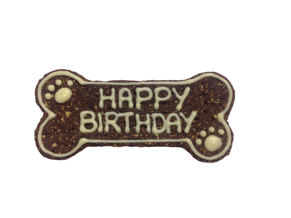 Birthday Bow Wow Bone - Carob