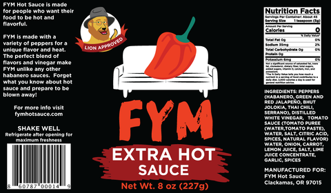 FYM Extra Hot - 8 oz 6 pack