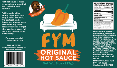 FYM Original Hot - 8 oz 6 pack