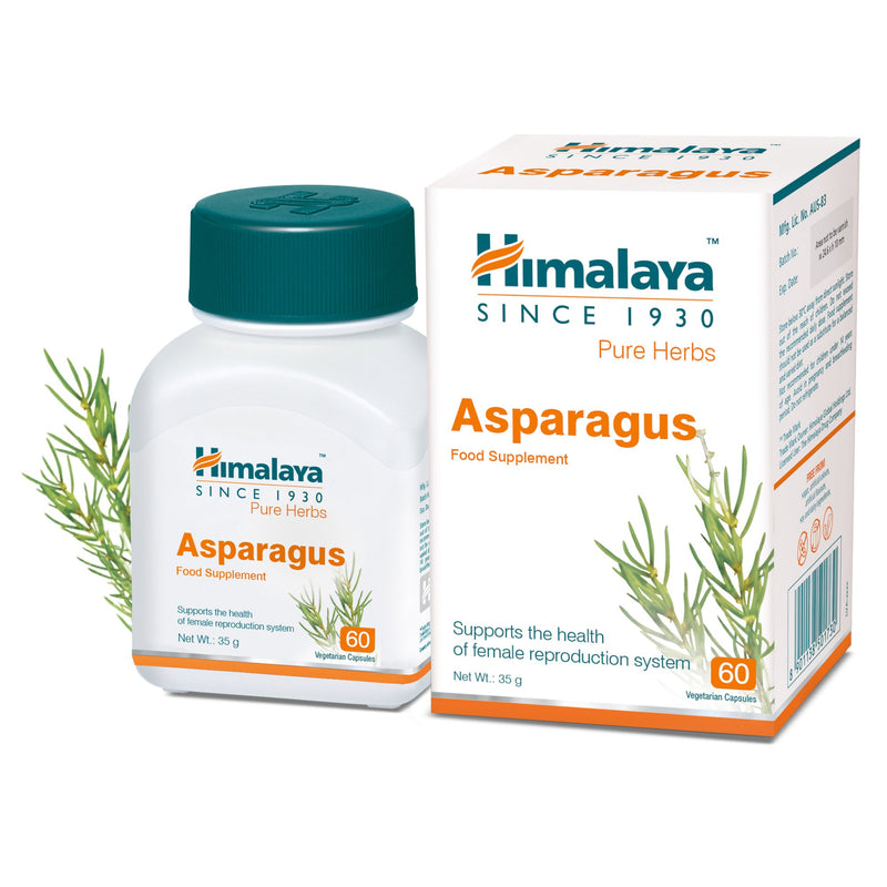 Himalaya Asparagus (Shatavari) 60 Capsules - For Healthy Female Reproductive System