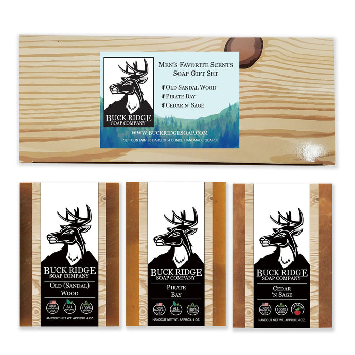 HomeShopHub Black Oliver Bodycare Men's Favorite Scents Gift Set Handmade Soap