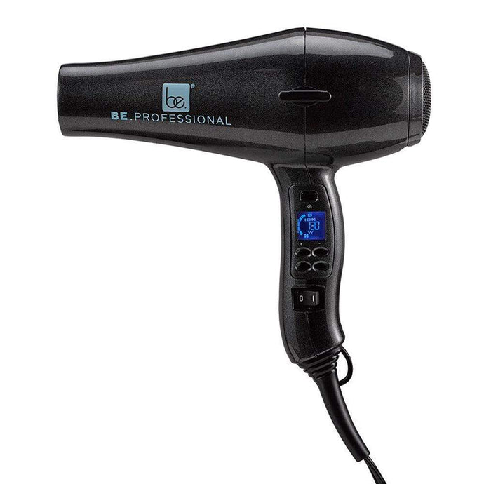 HomeShopHub Lime Aphrodite Haircare Be.Professional Digital Blow Dryer - Long Nozzle - Pearl Black