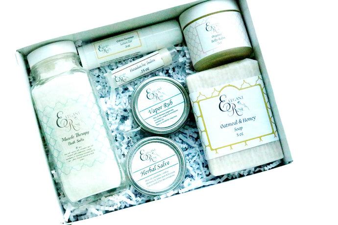 HomeShopHub Maroon Oliver Bodycare New Mom Gift Set - Baby Shower Gift, Gift for New