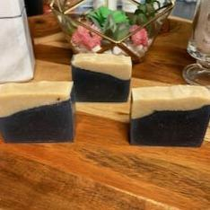 HomeShopHub Mint Green Icarus Bodycare Berry Clean Detox Charcoal & Turmeric Soap