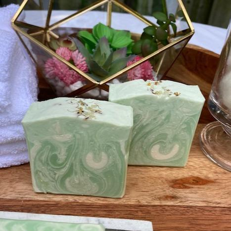 HomeShopHub Mint Green Icarus Bodycare Berry Clean Lemongrass Soap made with Essential Oil