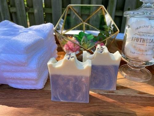 HomeShopHub Mint Green Icarus Bodycare Curvy White Top Berry Clean Lavender & Sweet Orange Cold Process Soap