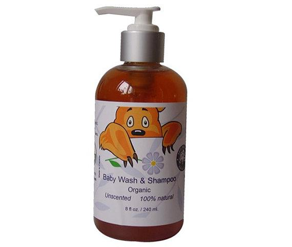 HomeShopHub Yellow Poppy Bodycare 8 Organic Baby wash and shampoo for sensitive skin,