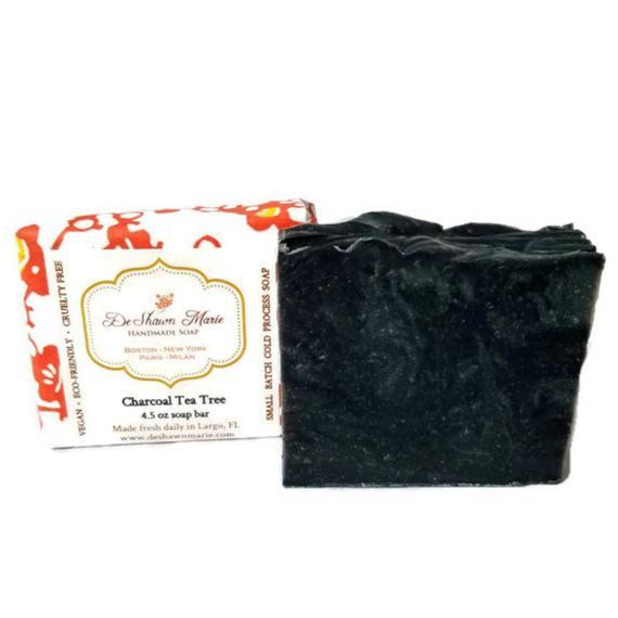 HomeShopHub Yellow Shadow Bodycare Activated Charcoal Tea Tree Soap