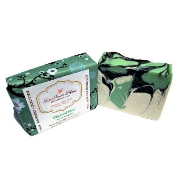 HomeShopHub Yellow Shadow Bodycare Charcoal Mint Soap