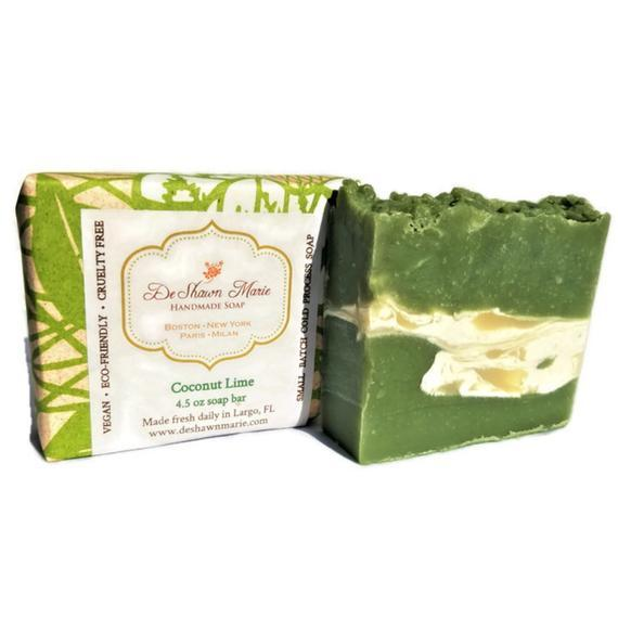 HomeShopHub Yellow Shadow Bodycare Coconut Lime Soap