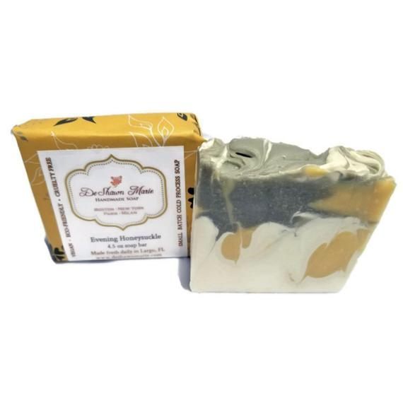 HomeShopHub Yellow Shadow Bodycare Evening Honeysuckle Soap