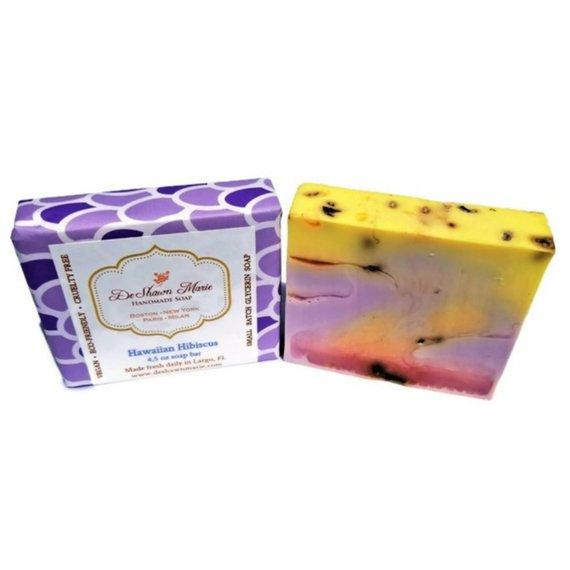 HomeShopHub Yellow Shadow Bodycare Hawaiian Hibiscus SoapHandmade SoapVegan