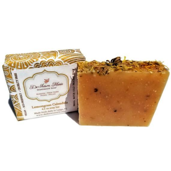 HomeShopHub Yellow Shadow Bodycare Lemongrass Calendula Soap