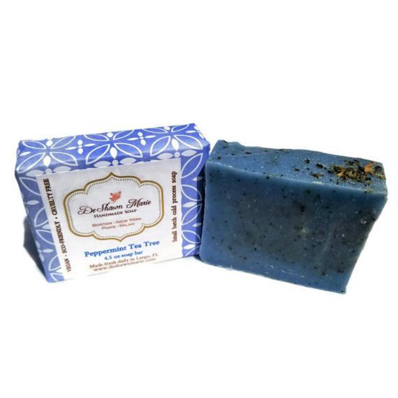 HomeShopHub Yellow Shadow Bodycare Peppermint Tea Tree Soap