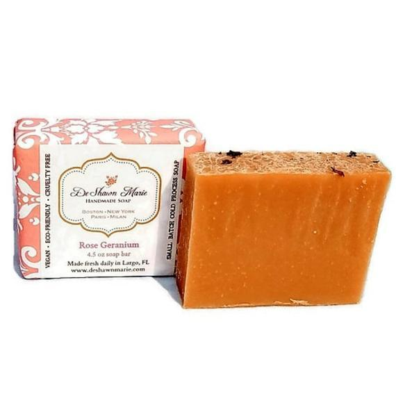 HomeShopHub Yellow Shadow Bodycare Rose Geranium Soap