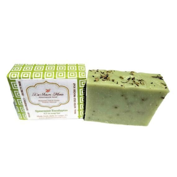 HomeShopHub Yellow Shadow Bodycare Spearmint Eucalyptus Soap