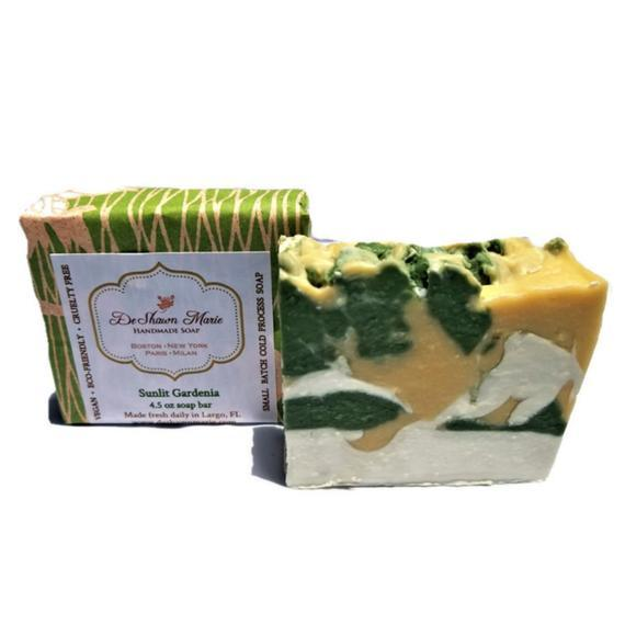 HomeShopHub Yellow Shadow Bodycare Sunlit Gardenia Soap