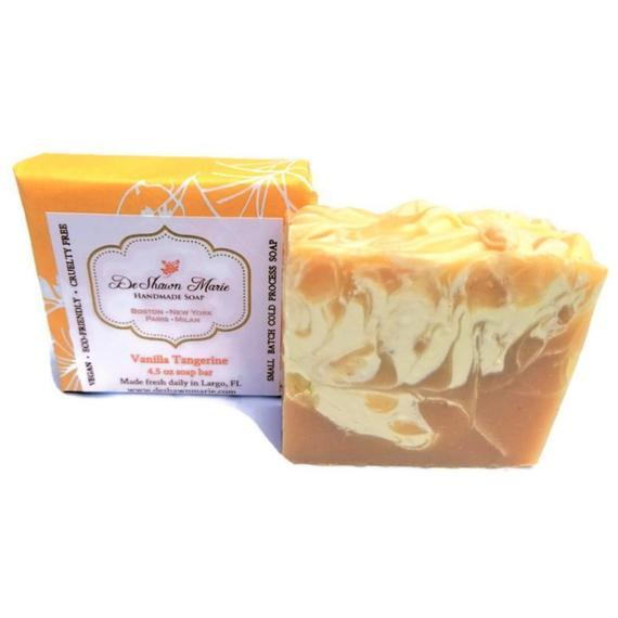 HomeShopHub Yellow Shadow Bodycare Vanilla Tangerine Soap